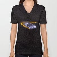Neon Back To The Future Unisex V-Neck