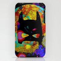 iPhone Cases featuring The Bat is Back 2 by Saundra Myles
