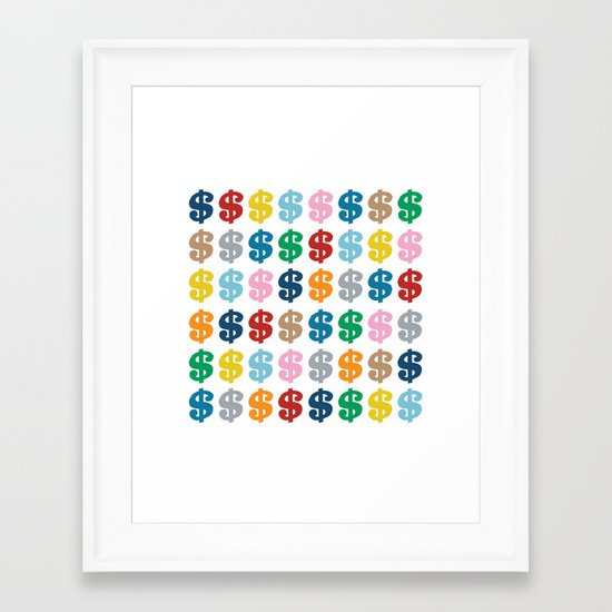 Colourful Money 48 Framed Art Print