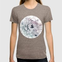 Universe In Progress Womens Fitted Tee Tri-Coffee SMALL