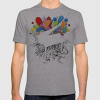 Power of Piano  Mens Fitted Tee Athletic Grey SMALL