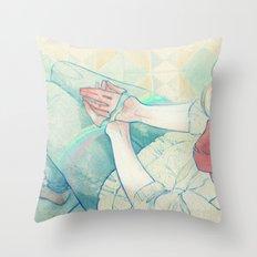 Sin Valentín Throw Pillow