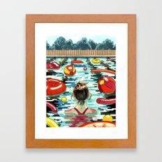 Pooling Framed Art Print