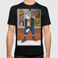 Little Skinhead Mens Fitted Tee Tri-Black SMALL