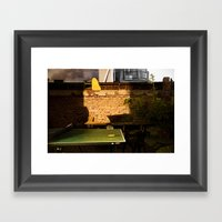 Low Light Backyard#2 Framed Art Print
