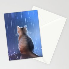 under rainy days like these Stationery Cards