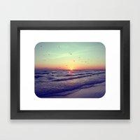 Siesta Key Sunset Framed Art Print