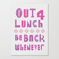 out 4 lunch ver. 2.0 Canvas Print
