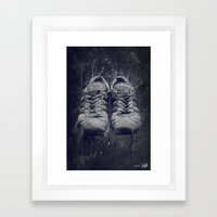 DARK SHOES Framed Art Print