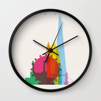 Shapes of London. Accurate to scale Wall Clock