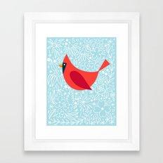 Cardinal Flowers, Carolina Blue Framed Art Print