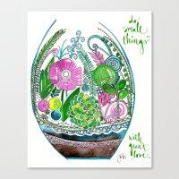 Small Things Terrarium Canvas Print