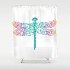 dragonfly v1 Shower Curtain
