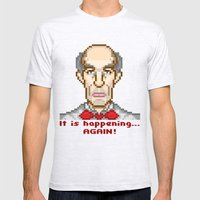It is happening... again (Twin Peaks Giant) Mens Fitted Tee Ash Grey SMALL