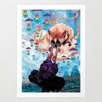 Attack Of The Super Furr… Art Print