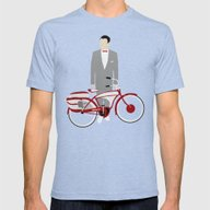 Pee Wee's Big Adventure  Mens Fitted Tee Tri-Blue SMALL