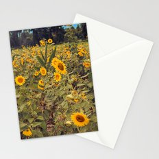 Summer Dance Field of Sun Flowers Botanical Landscape Fine Art Print Stationery Cards