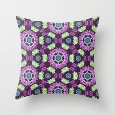 Kaleidoscope - Floral Fantasy Throw Pillow