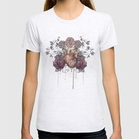 Flowers from my heart Womens Fitted Tee Ash Grey SMALL
