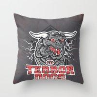 NY Terror Dogs Throw Pillow
