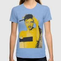 Amarillo Womens Fitted Tee Tri-Blue SMALL
