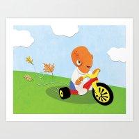 SW Kids - Big Wheel Ackb… Art Print