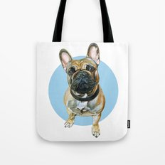 French Bulldog blue spot. Tote Bag
