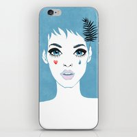 Сrying girl iPhone & iPod Skin