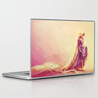 portrait Laptop & iPad Skins featuring Gilded by Alice X. Zhang