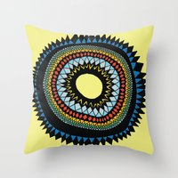 Patterned Sun II Throw Pillow
