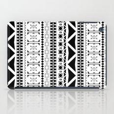 Black & White Pattern iPad Case
