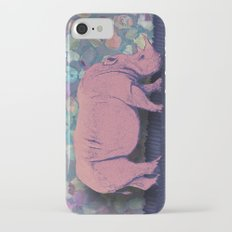 Pink Rhinoceros Collage iPhone 7 Slim Case