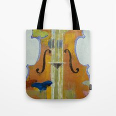 Violin Butterflies Tote Bag