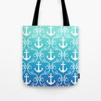 Nautical Knots Ombre Tote Bag