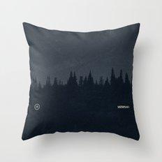 Nature / Dark Throw Pillow
