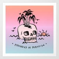 STRANDED IN PARADISE Art Print