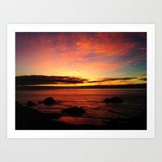 Sutro Baths Sunset Art Print