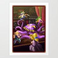 Pixel Art Series 3 : Oct… Art Print