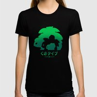 Mega Grass Womens Fitted Tee Black SMALL