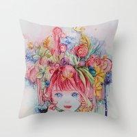 Nadias dream garden Throw Pillow