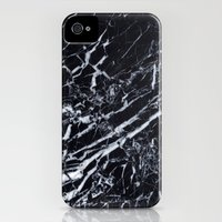 iPhone 4 Case featuring Real Marble Black by Grace