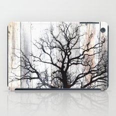 Tree Silhouette on Wood iPad Case