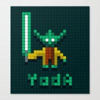 Yoda By Qixel Canvas Print