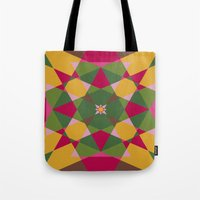 Shades Of Flowers Tote Bag