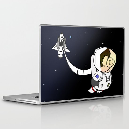 Astro Pig Laptop & iPad Skin