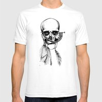 Skull Of Time Mens Fitted Tee White SMALL