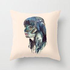 Water Head Throw Pillow