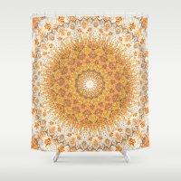 Autumn Gatherings --  Thanksgiving Abundance Mandala  Shower Curtain
