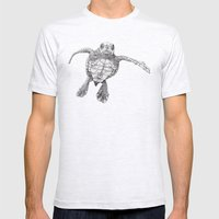Chelonioidea (the turtle) Mens Fitted Tee Ash Grey SMALL