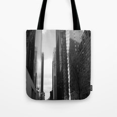 Reflection of the street Tote Bag